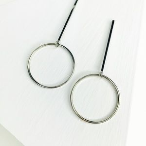 "CLOSET REHAB Jewelry - Silver ""O"" Drop Earring"